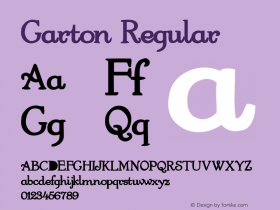 Garton Regular Altsys Metamorphosis:4/12/92 Font Sample