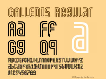 GALLEDIS Regular Converted from D:\TEMP\GALLEDIS.TF1 by ALLTYPE Font Sample