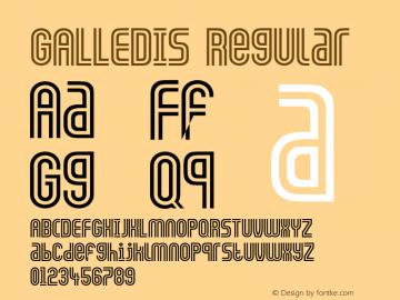 GALLEDIS Regular Converted from D:\TEMP\GALLEDIS.TF1 by ALLTYPE图片样张