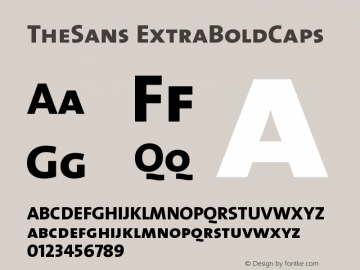 TheSans ExtraBoldCaps Version 1.0 Font Sample