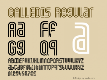 GALLEDIS Regular Converted from C:\TTFONTS\GALLEDIS.TF1 by ALLTYPE Font Sample