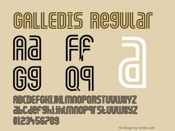 GALLEDIS Regular Converted from C:\TTFONTS\GALLEDIS.TF1 by ALLTYPE图片样张