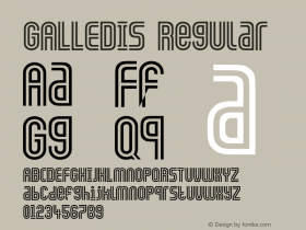 GALLEDIS Regular Converted from F:\X\GALLEDIS.TF1 by ALLTYPE Font Sample