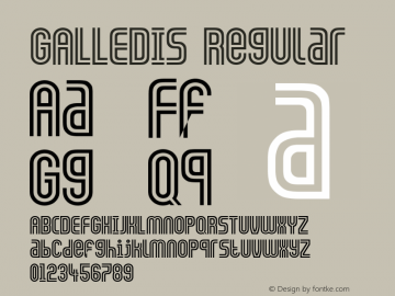 GALLEDIS Regular Converted from F:\X\GALLEDIS.TF1 by ALLTYPE图片样张