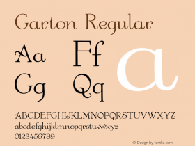 Garton Regular -------------- d:\aff10\GARTON.FF1 ---------- Font Sample