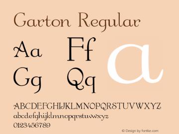 Garton Regular -------------- d:\aff10\GARTON.FF1 ---------- Font Sample