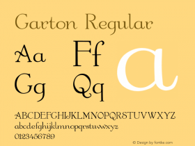 Garton Regular -------------- d:\aff09\GARTON.FF1 ---------- Font Sample