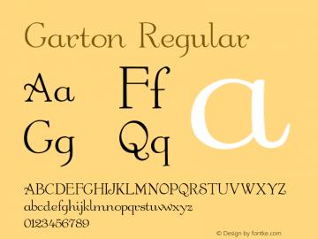 Garton Regular -------------- d:\aff09\GARTON.FF1 ---------- Font Sample