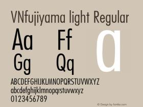 VNfujiyama light Regular 1.0 Mon Oct 04 10:40:01 1993 Font Sample