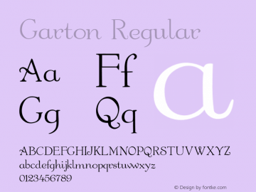 Garton Regular 001.000 Font Sample