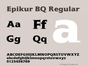 Epikur BQ Regular 001.000图片样张
