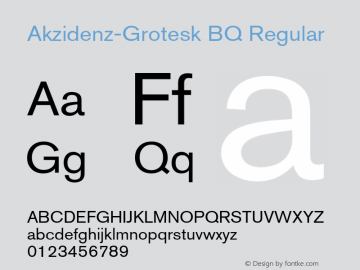 Akzidenz-Grotesk BQ Regular 001.001 Font Sample