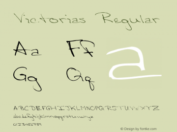 Victorias Regular Altsys Metamorphosis:4/10/92 Font Sample