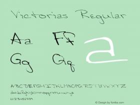 Victorias Regular Altsys Metamorphosis:3/8/92 Font Sample