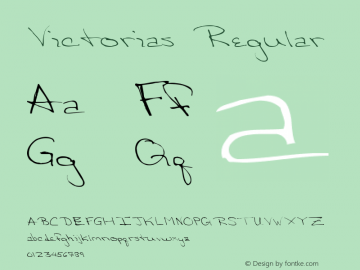 Victorias Regular Altsys Metamorphosis:3/8/92 Font Sample