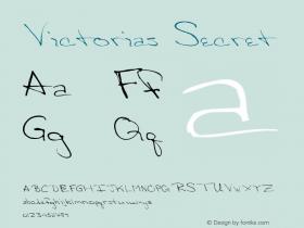 Victorias Secret Altsys Fontographer 4.0.3 03.06.1994 Font Sample