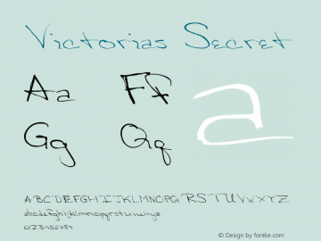Victorias Secret Altsys Fontographer 4.0.3 03.06.1994 Font Sample