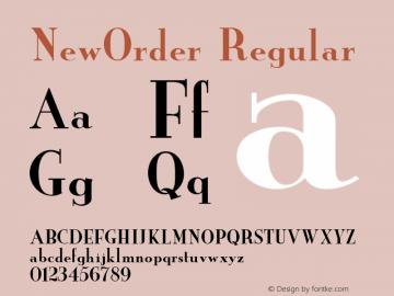 NewOrder Regular Unknown Font Sample