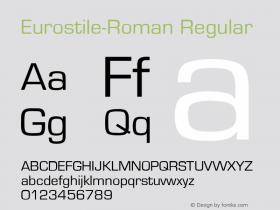 Eurostile-Roman Regular Converted from E:\TTFONTS\EUROSTI1.TF1 by ALLTYPE Font Sample