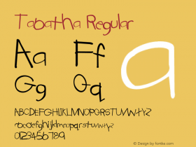 Tabatha Regular Converted from E:\TTFONTS\TABATHA.TF1 by ALLTYPE Font Sample