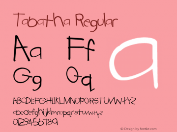 Tabatha Regular Converted from D:\FONTTEMP\TABATHA.TF1 by ALLTYPE Font Sample