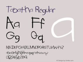 Tabatha Regular Converted from C:\TTFONTS\TABATHA.TF1 by ALLTYPE Font Sample