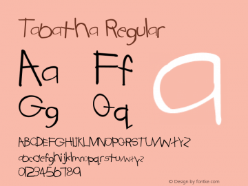 Tabatha Regular Converted from C:\WINDOWS\TABATHA.TF1 by ALLTYPE Font Sample