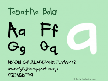 Tabatha Bold 5 Font Sample
