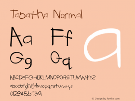 Tabatha Normal 5 Font Sample