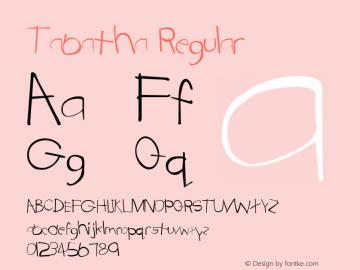 Tabatha Regular Altsys Metamorphosis:4/16/92 Font Sample