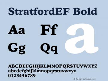 StratfordEF Bold 001.000 Font Sample