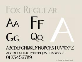 Fox Regular Altsys Metamorphosis:4/16/92 Font Sample