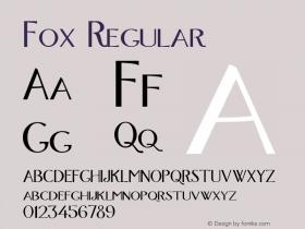 Fox Regular Altsys Fontographer 4.0.3 28.07.1994 Font Sample