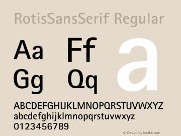 RotisSansSerif Regular 001.000 Font Sample