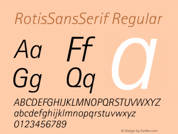 RotisSansSerif Regular 001.000 Font Sample