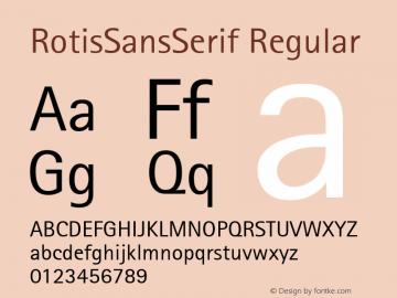 RotisSansSerif Regular Version 1.00 Font Sample