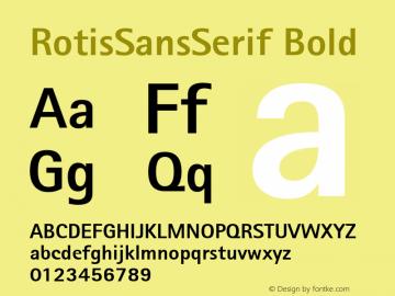 RotisSansSerif Bold Version 1.0 Font Sample