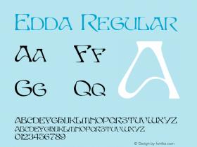 Edda Regular Altsys Metamorphosis:4/16/92 Font Sample