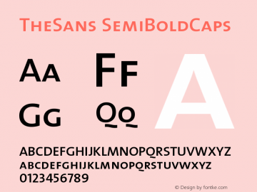 TheSans SemiBoldCaps Version 1.0 Font Sample