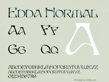 Edda Normal 1.0 Mon Oct 04 17:06:06 1993 Font Sample