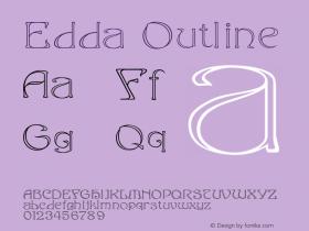 Edda Outline Version 001.000 Font Sample