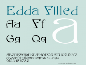 Edda Filled Version 001.000 Font Sample