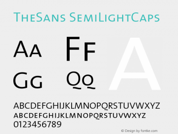 TheSans SemiLightCaps Version 1.0 Font Sample