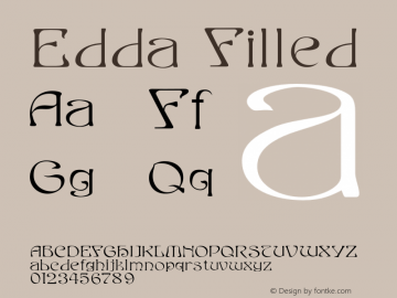 Edda Filled Version 001.000 Font Sample