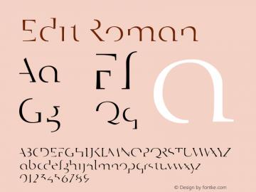 Edit Roman 001.000 Font Sample