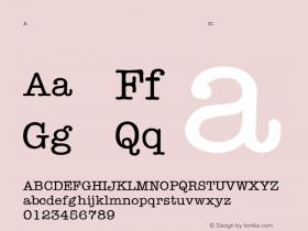 AmericanTypewriter-Light Regular Converted from C:\TTEMP\TYPWRITE.TF1 by ALLTYPE Font Sample