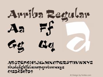 Arriba Regular Version 2.0 Font Sample