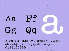 AmericanTypewriter-Light Regular Converted from C:\WIN\SYSTEM\ST000063.TF1 by ALLTYPE Font Sample