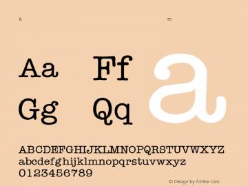 AmericanTypewriter-Light Regular Converted from F:\WINDOWS\TTFONTS\TYPWRITE.TF1 by ALLTYPE Font Sample
