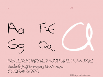 LeftyCasual Regular Converted from C:\TEMP\LEFTYCAS.TF1 by ALLTYPE Font Sample